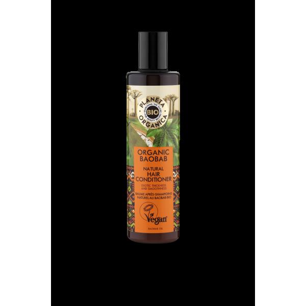 Planeta Organica, Μαλακτικό με έλαιο Baobab, για ενδυνάμωση και λείανση, 280ml.