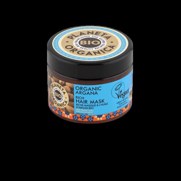 Planeta Organica, Μάσκα μαλλιών με έλαιο Αργκάν, για θρέψη και προστασία, 300ml
